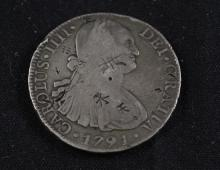 †1791 MEXICAN 8 REALES WITH CHOP MARKS *tax exempt*