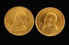 †2 SOUTH AFRICAN 1 OZ GOLD KRUGERRANDS 1981 AND 1982 *tax exempt*