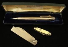 LOT INCLUDING RONSON PENCILITER AND 2 IMPERIAL POCKET KNIVES