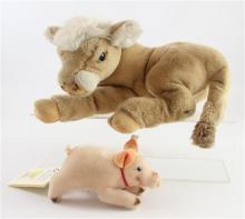 2 STEIFF ANIMALS INCLUDING LIMITED EDITION MOHAIR