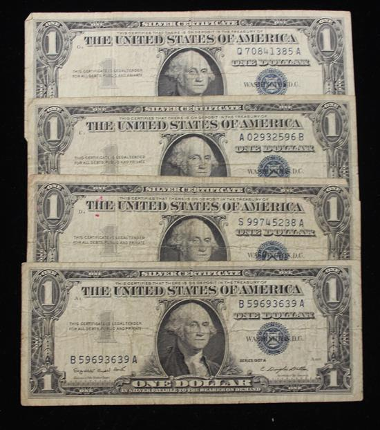 1957 Series 1 Dollar Silver Certificate Value Southern Snow