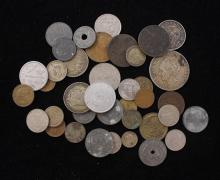 LOT FOREIGN COINS INCLUDING GERMANY AND MEXICO