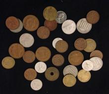 LOT FOREIGN COINS INCLUDING GERMANY AND CANADA