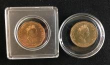 (2) 1992 CANADIAN ONE DOLLAR COINS