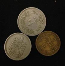 3 FOREIGN COINS