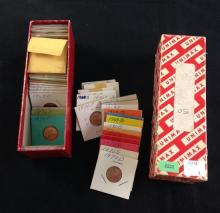 LOT U.S. AND CANADIAN CENTS AND TOKENS