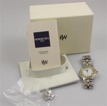 RAYMOND WEIL PARSIFAL 9190 STAINLESS STEEL WATCH WITH ORIGINAL BOX, PAPERS AND EXTRA LINKS