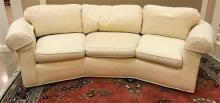 SHERRILL 3-CUSHION CURVED SOFA WITH ROLLED ARMS, 102