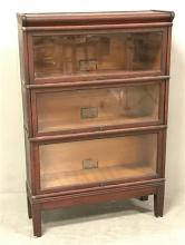 GLOBE WERNICKE 3-SECTION BARRISTER BOOKCASE, 34