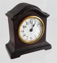 SETH THOMAS EIGHT DAY DESK CLOCK IN WOODEN CASE, 5