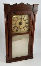 JASON R RAWSON MANTEL CLOCK WITH HALF TURNED PILASTERS AND MIRRORED TABLET, 32