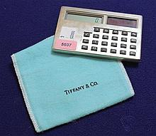 TIFFANY & CO STERLING SILVER CALCULATOR WITH POUCH, 3 3/4