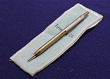 TIFFANY & CO STERLING SILVER BALL POINT PEN WITH POUCH