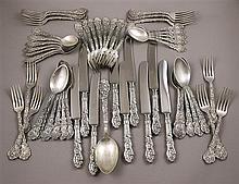 53 PC GORHAM STERLING SILVER FLATWARE SET