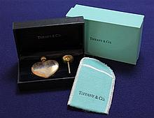 TIFFANY & CO STERLING SILVER HEART SHAPED PERFUME WITH POUCH AND BOXES