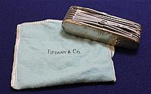 TIFFANY & CO STERLING SILVER AND 18K SWISS ARMY STYLE KNIFE  WITH POUCH,3 1/2