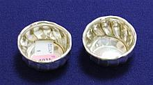 TWO GORHAM STERLING SILVER SALT DIPS, 2