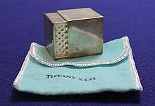 TIFFANY & CO STERLING SILVER NUTMEG GRATER WITH POUCH, 1 1/4