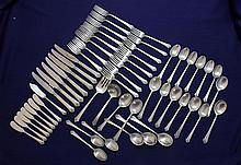 56 PC SET HEIRLOOM STERLING SILVER FLATWARE SET
