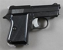 F.I.E. CORPORATION, MODEL TITAN, .25 CALIBER PISTOL, SN: A05379, WITH BOX AND HOLSTER