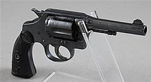 COLT MODEL POLICE POSITIVE .38 CALIBER REVOLVER SN:104591 BROKEN GRIP W.F. & CO. WITH SOFT CASE