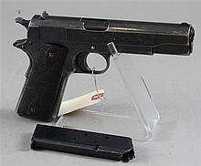 COLT MODEL 1911 .45 CALIBER PISTOL SN: C135082 WITH LEATHER HOLSTER