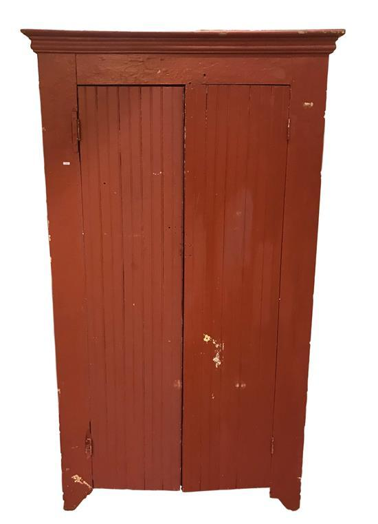 COUNTRY WARDROBE PAINTED RED, 43