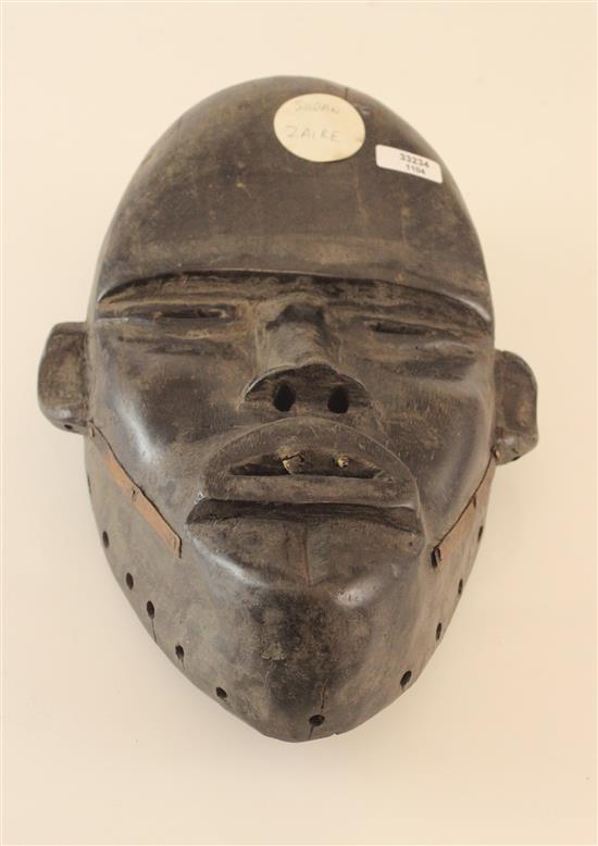AFRICAN ART, WOODEN MASK, DAN MASK USED FOR ENTERTAINMENT AND FOR SOCIAL APPLICATIONS, DAN MASKS ARE AN EXTENSION OF THE WEARER, AND...