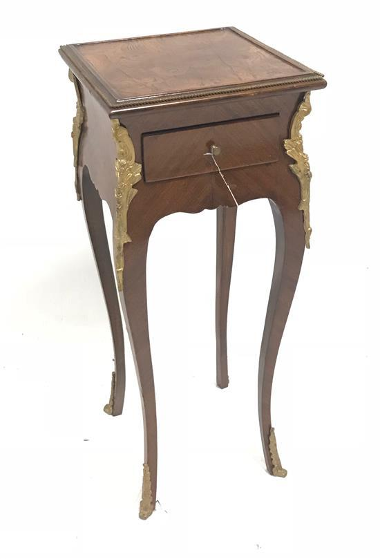 FRENCH STYLE SQUARE TOP STAND WITH ORMOLU TRIM, 30