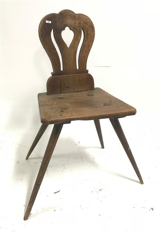 PRIMITIVE CHAIR WITH SHAPED BACK, 32