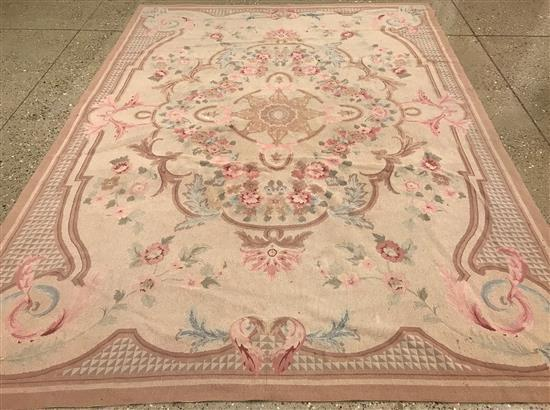 NEEDLE POINT TAPESTRY RUG, 8' X 11'