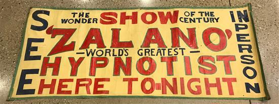 CIRCUS SIDE SHOW BANNER