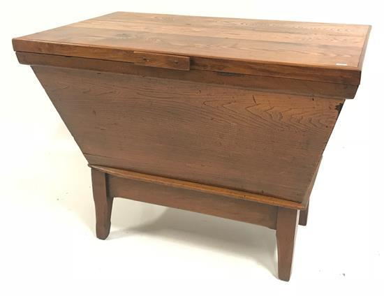 WOODEN DOUGH BOX WITH REPLACED TOP, 41.5