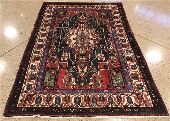 ORIENTAL RUG SEMI ANTIQUE PERSIAN BAKHTIARI, 6'2