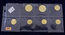 (7) ISLE OF MAN GOLD COINS