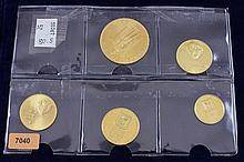 (5) GOLD COINS