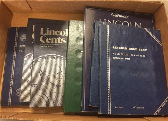 LOT WHITMAN AND WARMAN'S LINCOLN CENT ALBUMS (ALL PARTIAL SETS)
