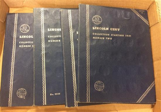 LOT 4 WHITMAN LINCOLN CENT ALBUMS VOL II, PARTIAL TO NEAR COMPLETE SETS