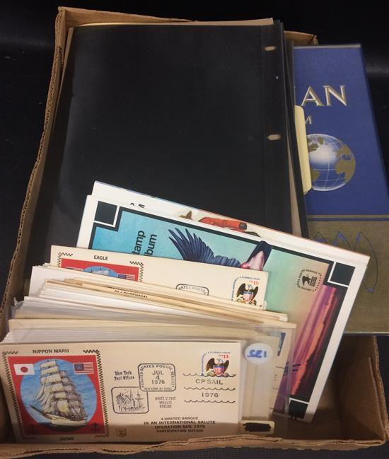 MIXED LOT STAMPS INCLUDING FIRST DAY COVERS, FOREIGN, AND