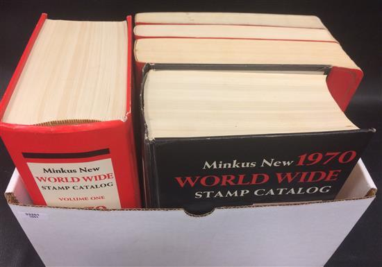 BOX LOT STAMP REFERENCE BOOKS INCLUDING