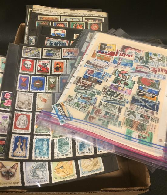 BOX LOT FOREIGN STAMPS