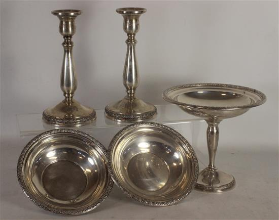 5 PIECES INTERNATIONAL STERLING SILVER