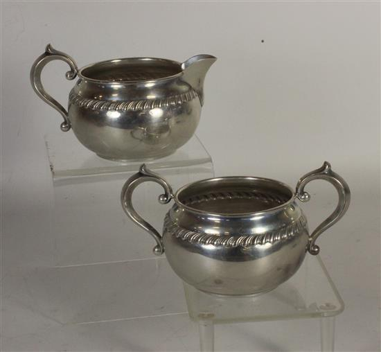 TWO GORHAM STERLING HANDLED HOLLOWARE PIECES 5.38 TROY OUNCES TW.