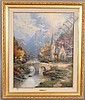 THOMAS KINKADE LIMITED EDITION GICLEE ON CANVAS,