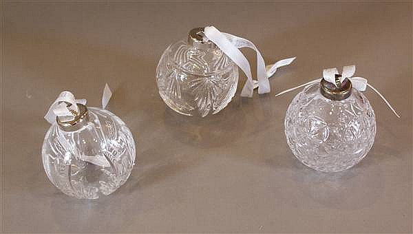 (3) WATERFORD CRYSTAL TIMES SQUARE BALL ORNAMENT