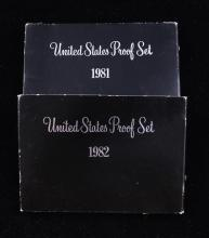 2 U.S. PROOF SETS 1981 AND 1982
