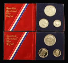(2) 1976 U.S. BICENTENNIAL SILVER PROOF SETS