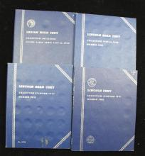 4 WHITMAN INDIAN HEAD AND LINCOLN CENT ALBUMS (PARTIAL SETS)