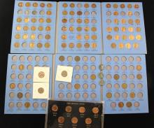 2 WHITMAN LINCOLN CENT COIN ALBUMS VOL I AND II (PARTIAL SETS), 1982 LINCOLN CENT SET, AND LOOSE STEEL AND MEMORIAL CENTS