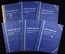 6 WHITMAN LINCOLN CENT ALBUMS INCLUDING 3 VOL I AND 3 VOL II (PARTIAL SETS)
